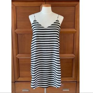 Amuse Society Black and White Striped Dress